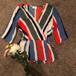 Cinch Waist Dress Shirt